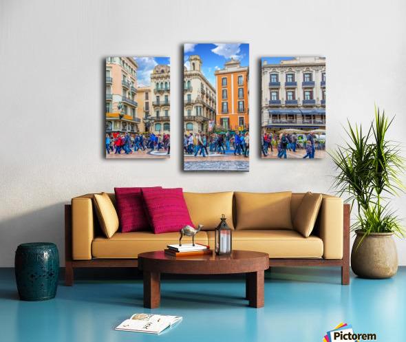 Plaza de la Boqueria Edit Canvas print