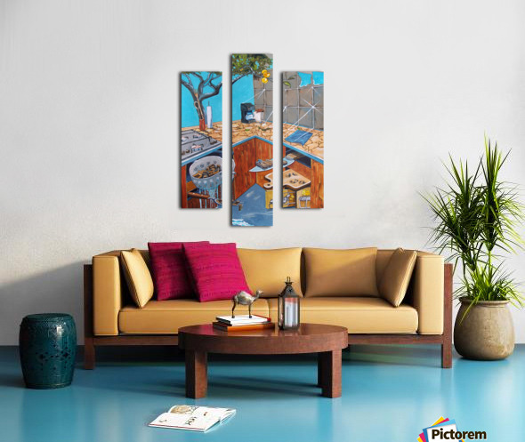 visions lurking in common places Canvas print