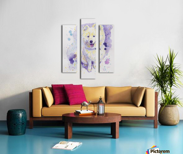 Samoyed Dog - Portrait of Juno Canvas print