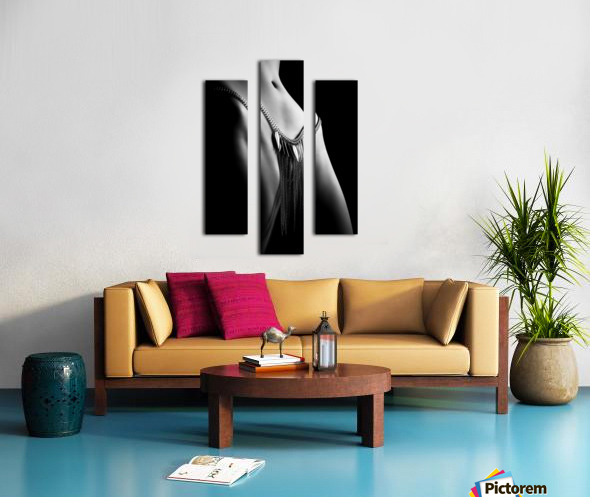 Woman close-up chain panty Canvas print