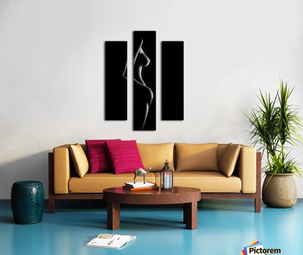 Nude woman bodyscape 20 Canvas print