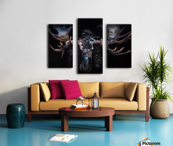 Moose Apparition  Canvas print
