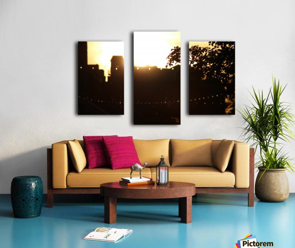 Montreal Sunset Canvas print