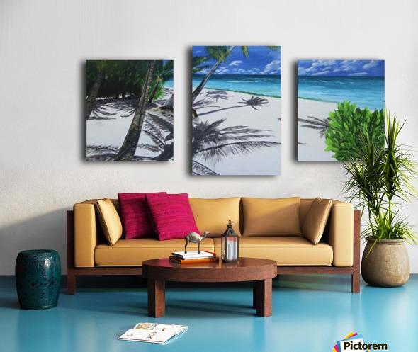 Shadow Beach by Robert Clark Canvas print