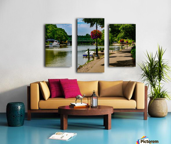 Erie Canal Vacation Canvas print