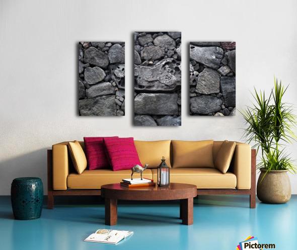 Lava brick Canvas print