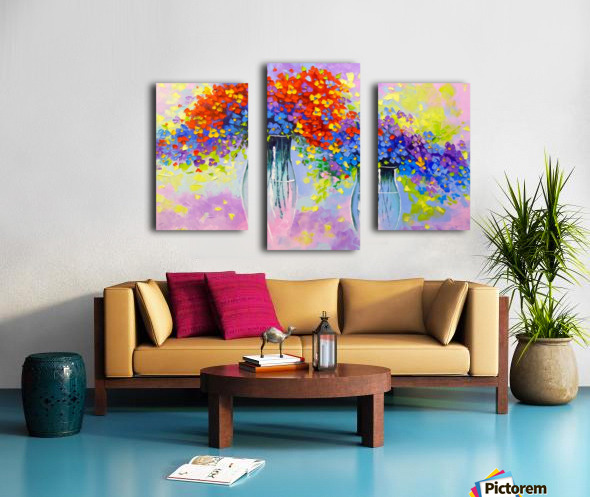 Music of multi-colored flowers Canvas print