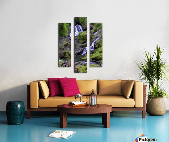 Upper Hanawi Falls Canvas print