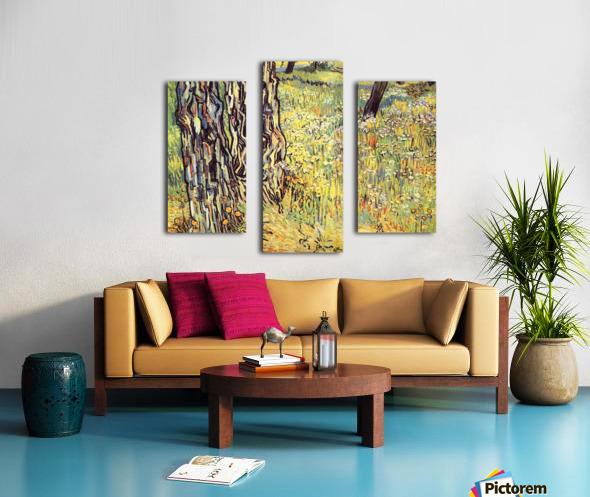 Tree trunks by Van Gogh Canvas print