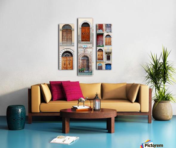 Italian Wooden Doors Collage Canvas print