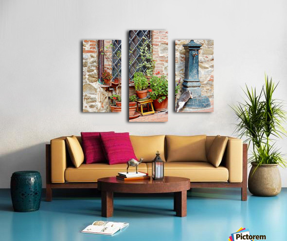Pawse for a Drink in Paciano Canvas print