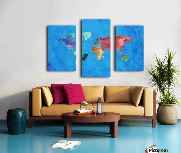 Artistic World Map III Canvas print
