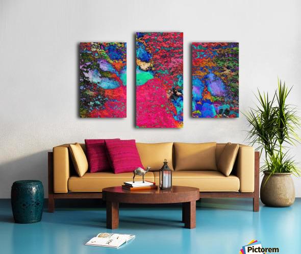 Paw Prints Colour Explosion Canvas print