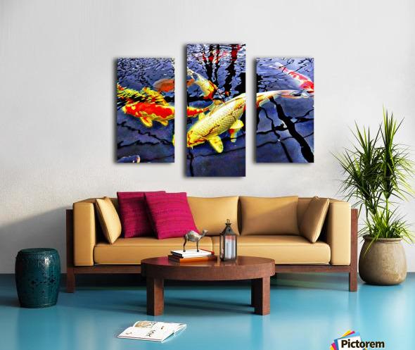 Koi Carp Huddle Canvas print
