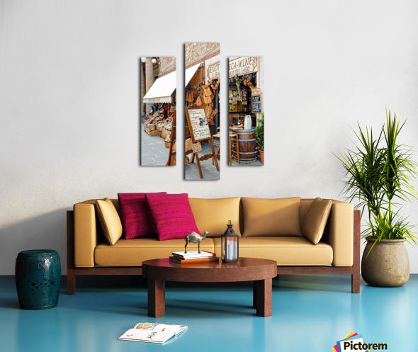 Delicatessens Castiglione del Lago Canvas print