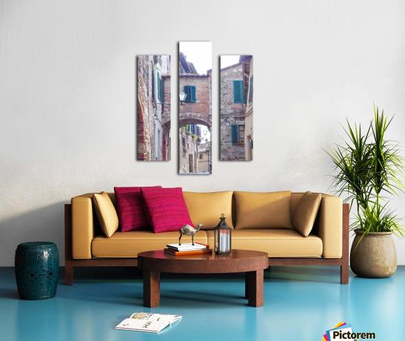 Alleyway Cetona Tuscany Canvas print