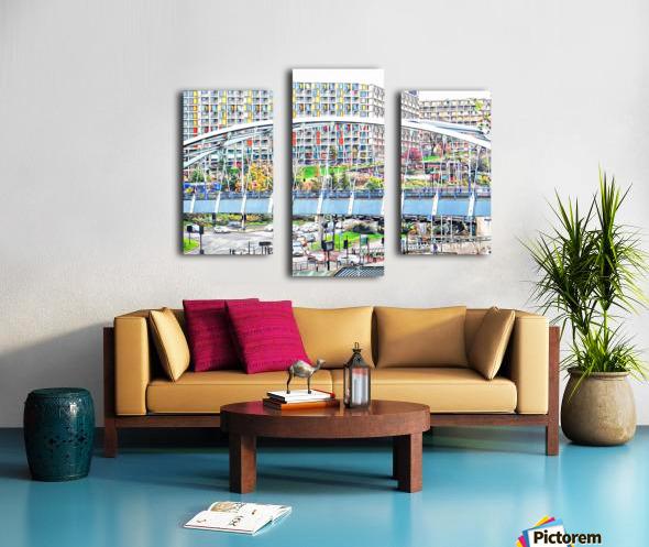 Park Square Bridge Sheffield Canvas print