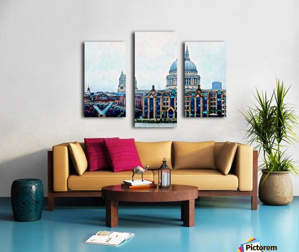 Millennium Bridge to St Pauls Cathedral London Canvas print