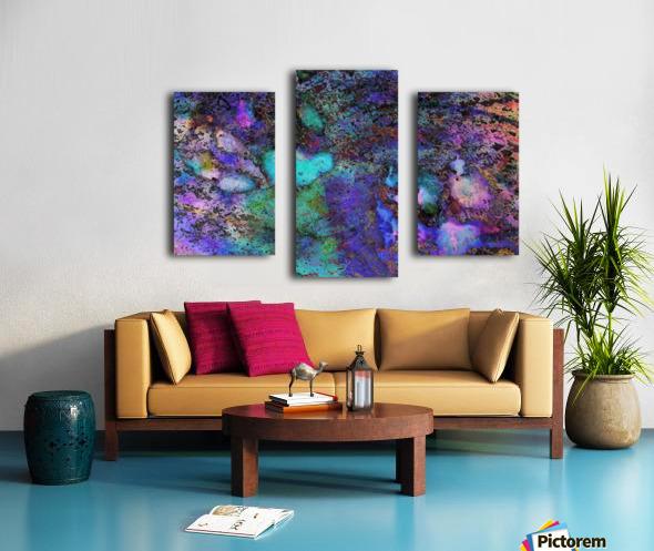 Paw Prints Soft Colours Canvas print