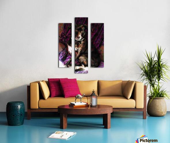 Purple Posing Puppy Canvas print
