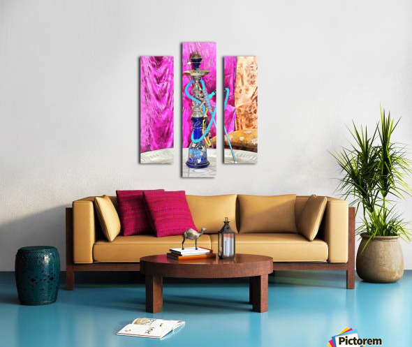 Exotic Oriental Hookah Pipe Canvas print