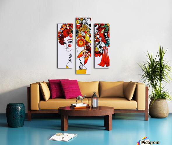 DEADBUG Geisha Canvas print