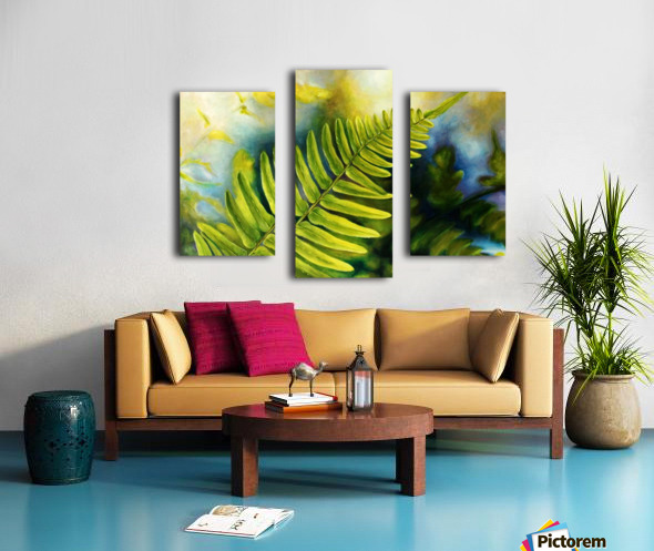 Fern Night Canvas print