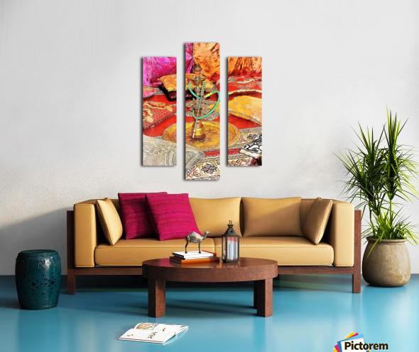Exotic Oriental Hookah Pipe 2 Canvas print
