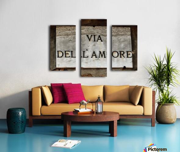 Via DellAmore Canvas print