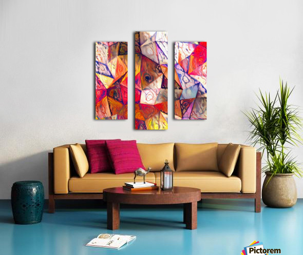 Modern Digital Abstract Painting Canvas print
