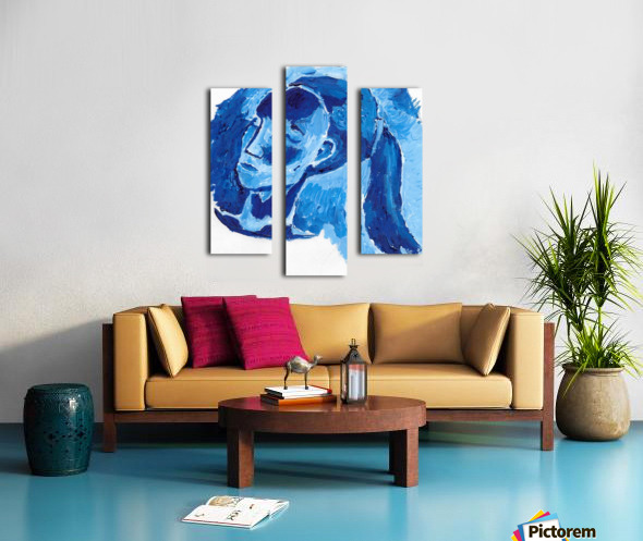 Blue Girl Canvas print