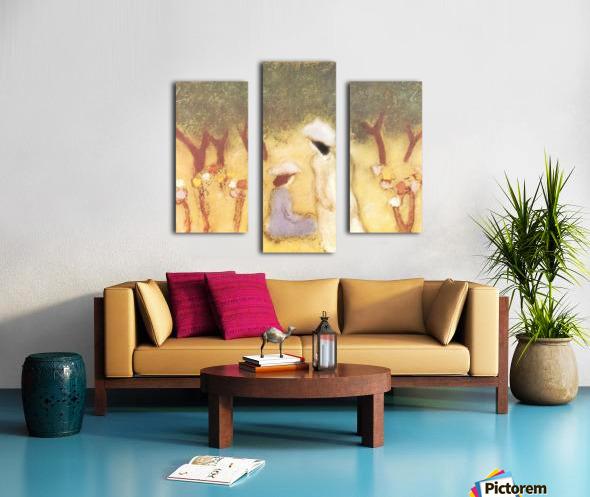Under the Hollyhocks by Joseph Rippl-Ronai Canvas print