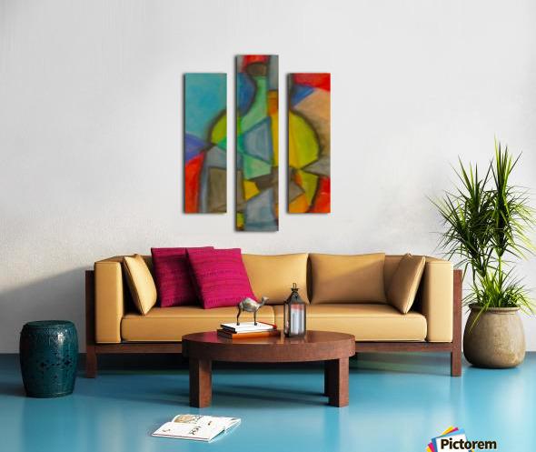 Cubist Bottle Canvas print