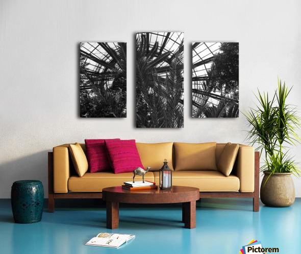Bell Isle Conservatory Dome 1 BW Canvas print
