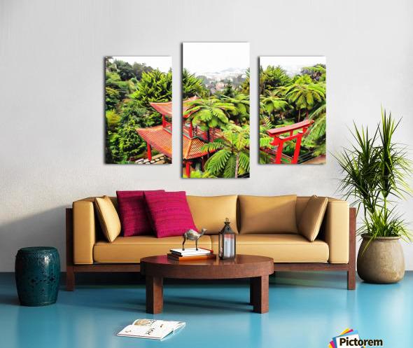 Oriental Gardens Madeira 4 Canvas print