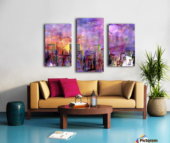 Night City Colors Canvas print