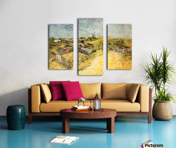 Vegetable Gardens in Montmartre by Van Gogh Canvas print