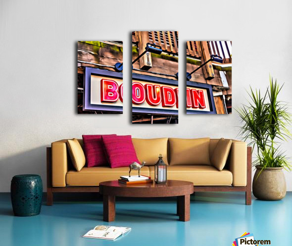 Boudin Bakery Sign Canvas print