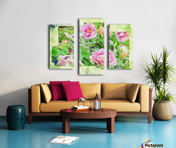 Soft Rose Fragments Canvas print
