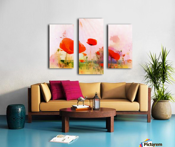 Poppies In Impression Canvas print