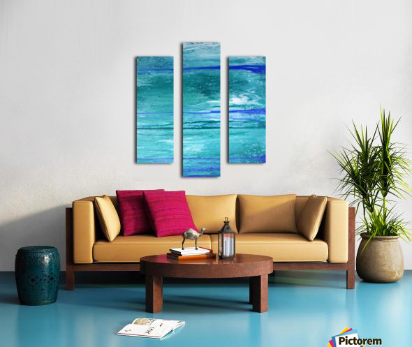 Abstract in Blues and Greens Canvas print
