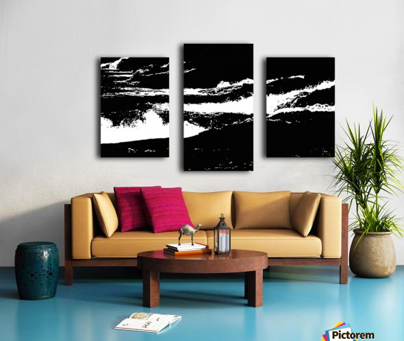 RECOLLET FALLS 5 -  Black & White High Contrast Canvas print
