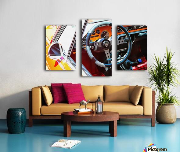 Lancia Fulvia Through The Window Canvas print