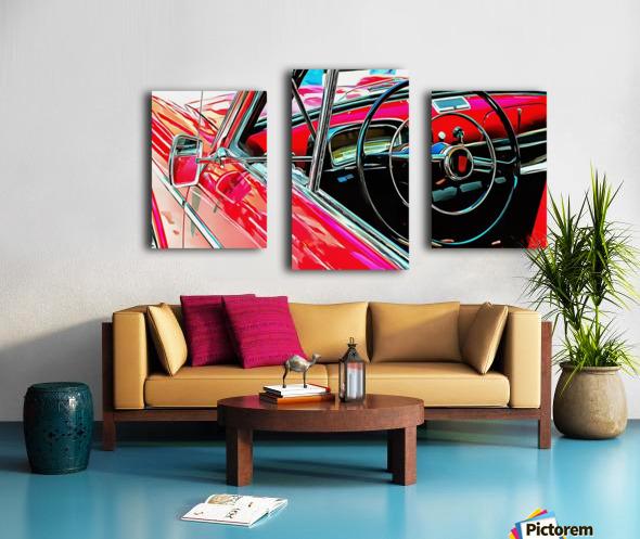 Fiat 1100 D Through The Window Canvas print