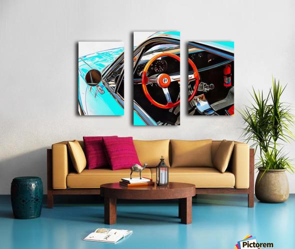 Alfa Romeo 1600Z Through The Window Canvas print