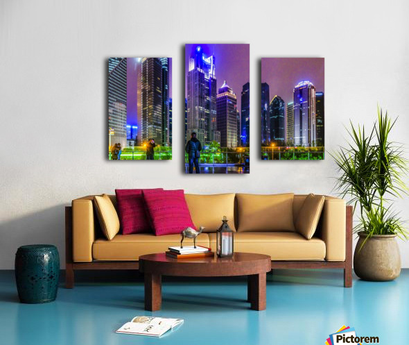 Lujiazui District Nigth Scene, Shanghai, China Canvas print