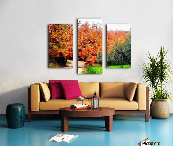 Autumn Golden Colours Umbria Canvas print