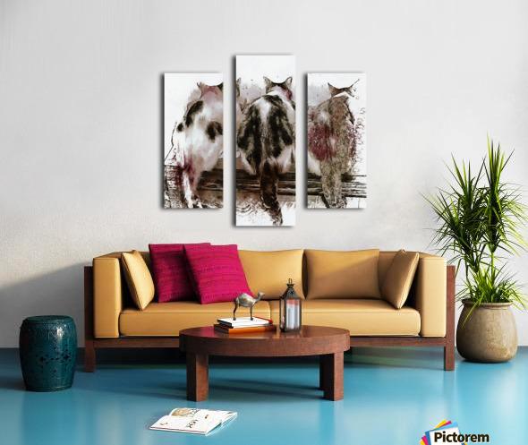 Feline Chow Time Canvas print
