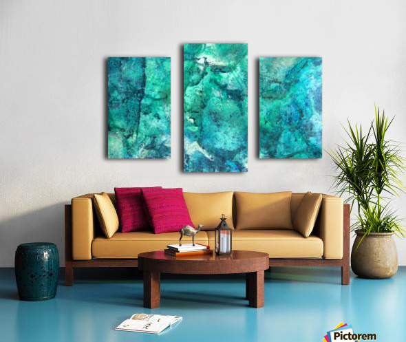 turquoise N°2 Canvas print