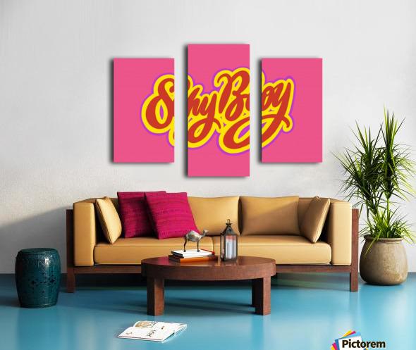 SHY BOY Canvas print